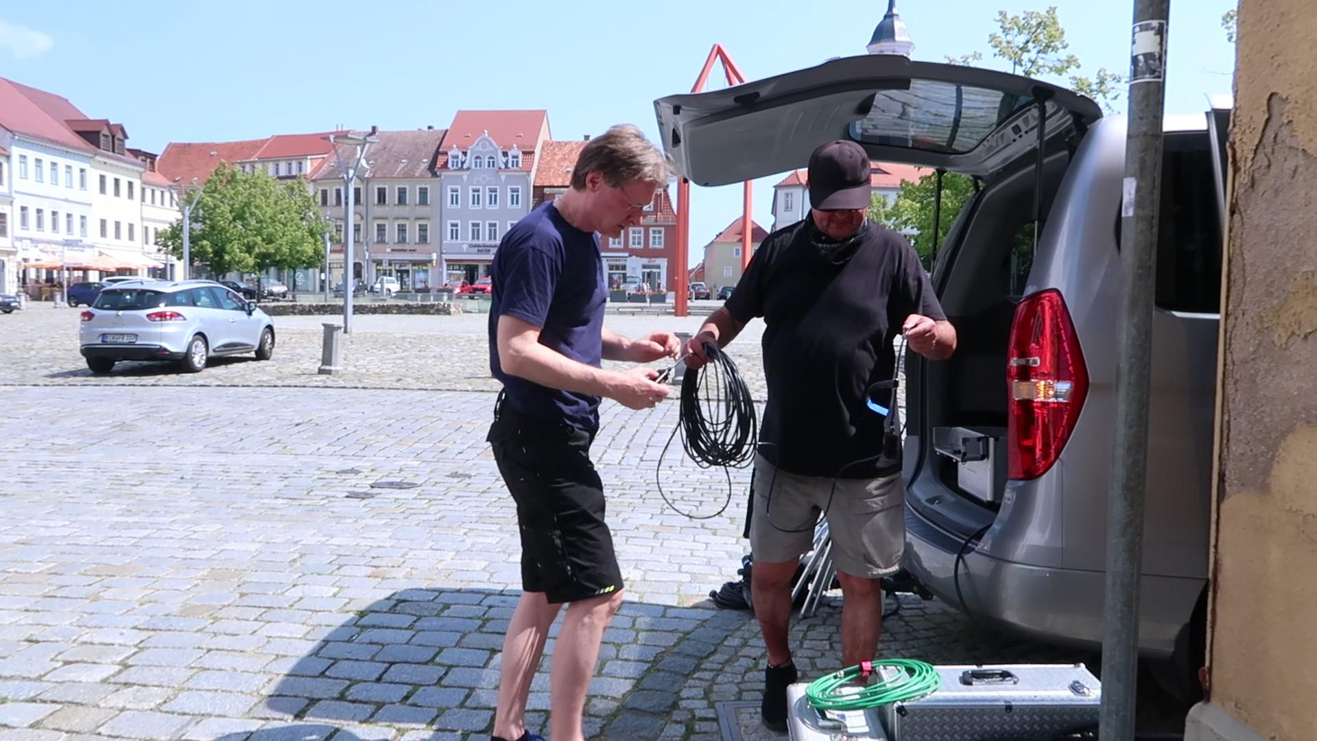 Livestreaming Dienstleister bei der Vorbereitung in Bischofswerda, Sachsen